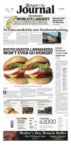 South Dakota lawmakers won't ever go hungry