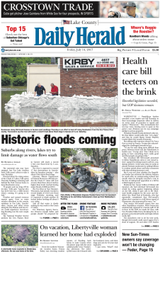 Historic floods coming