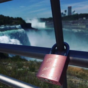 A love lock at Niagara Falls.