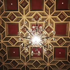Ceiling at the Palace Theatre in Stamford, Connecticut.
