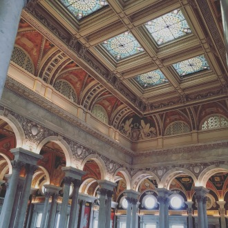 Inside the Library of Congress in Washington, D.C.