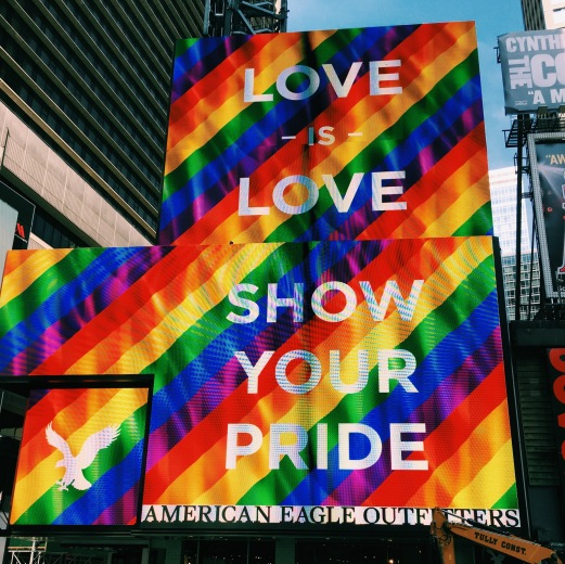 Love is love in Times Square.