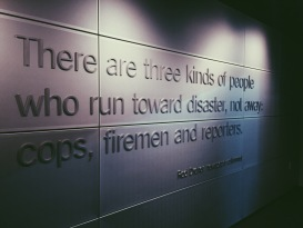 Part of the 9/11 exhibit at the Newseum in Washington, D.C.