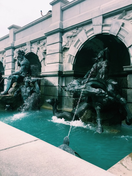 Fountains in front of the Library of Congress in Washington, D.C.