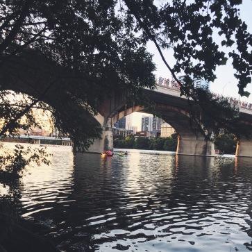 The Bat Bridge in Austin, Texas.