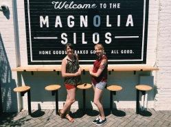 Elizabeth and me at the Magnolia Silos in Waco, Texas.