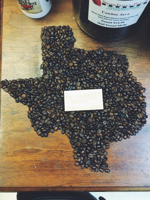 Texas coffee beans.