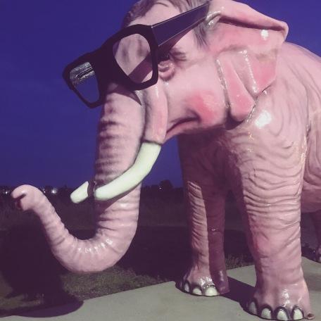 Pink elephant.