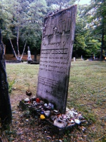 The oldest known grave in St. Anne's Cemetery in Mackinac Island